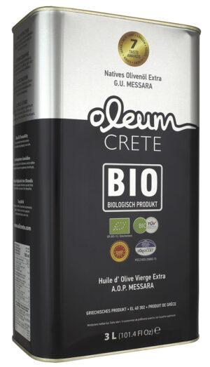 3 Litre Organic Extra Virgin Olive Oil